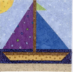 """ Sailboat "" Baby Quilt by marylandquilter 