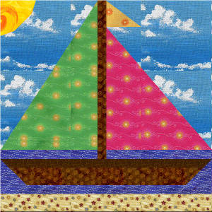 Free Quilt Block Pattern Sailboat n Sunshine