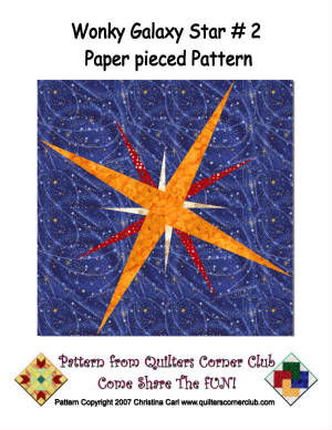 Checkerboard Galaxy Quilt Pattern BS2-308e (instant download)